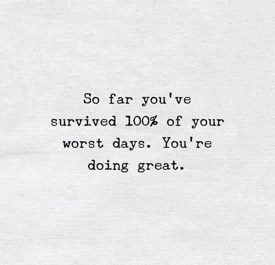 survived 100 percent of worst days